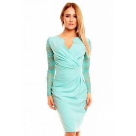 KARTES MODA šaty dámské KM56K-5 s krajkovými rukávy