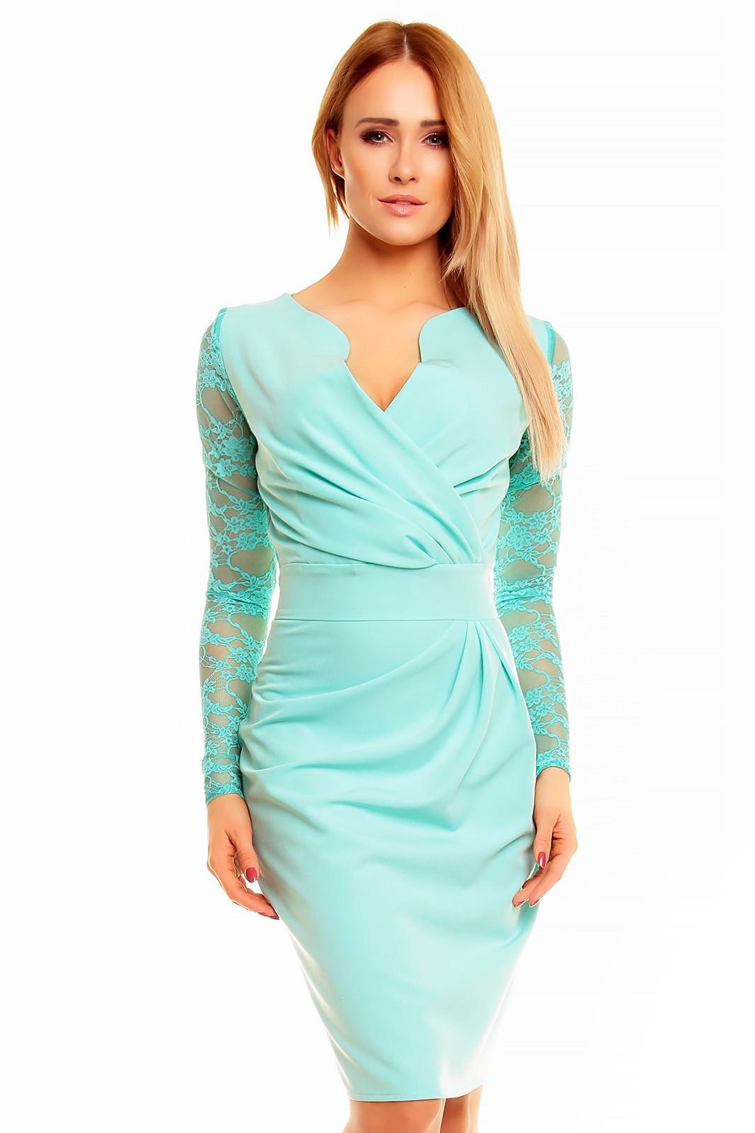 ca135c73628d KARTES MODA šaty dámské KM56K s obálkovým výstřihem - DG-MODA.CZ