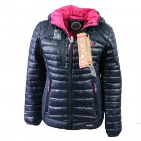 GEOGRAPHICAL NORWAY bunda dámská BAMBY LADY prošívaná s kapucí a sluchátky