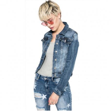 ITAIMASKA bunda dámská HS-3035 riflová jeansová džíska