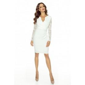 KARTES MODA šaty dámské KM56K-3 s krajkovými rukávy