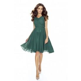 Cudowna sukienka z szyfonu KM227-5 ZIELEŃ
