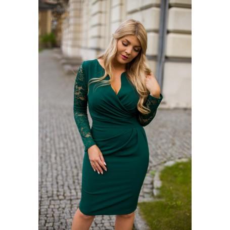 KARTES MODA šaty dámské KM56K-7 s krajkovými rukávy
