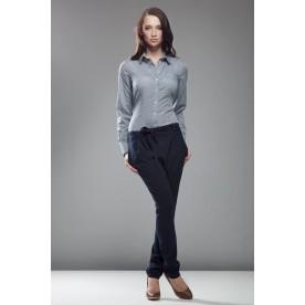 NIFE kalhoty dámské modré